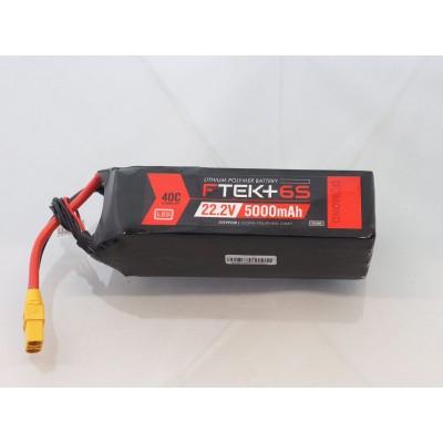 F-TEK+ 6S 5000mAh 40C LiPo w LED Indicator (XT90)