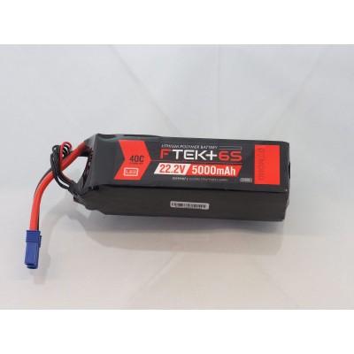 F-TEK+ 6S 5000mAh 40C LiPo w LED Indicator (EC5)