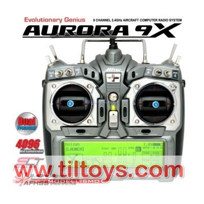 Hitec -  AURORA 9X solo TX 2,4GHz Mode1