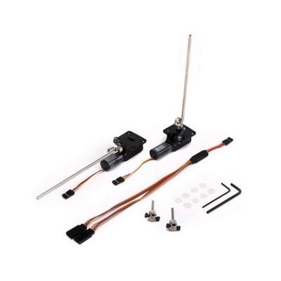 E-flite -  Coppia carrelli retrattili elettrici ruotanti .10-.15