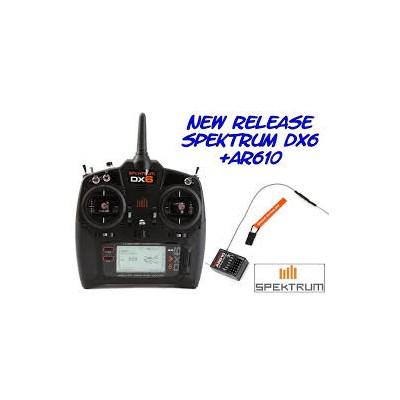 Spektrum -  DX6 DSMX + RX AR610